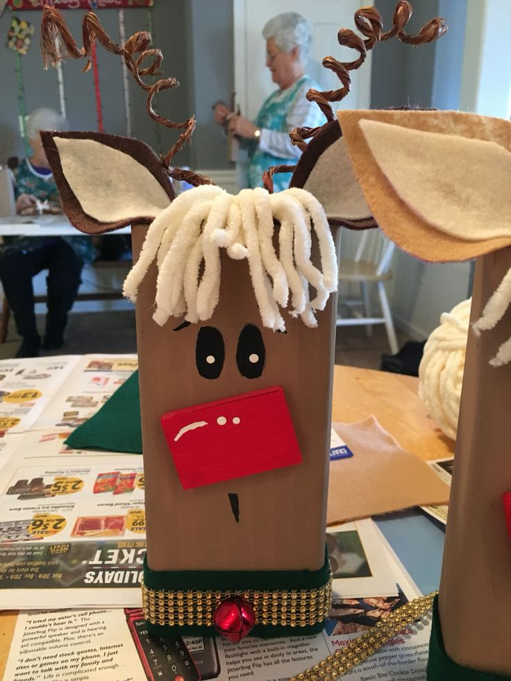 2x4 Reindeer Christmas Wood Crafts Christmas Crafts
