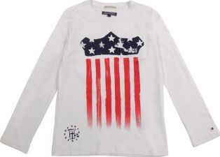 Tommy Hilfiger USA Flag T-shirt Off white `16 years Fabrics : Cotton jersey Details : Straight cut, Round neckline, Long sleeves, Breast pocket Composition : 100% Cotton http://www.comparestoreprices.co.uk/january-2017-7/tommy-hilfiger-usa-flag-t-shirt-off-white-16-years.asp