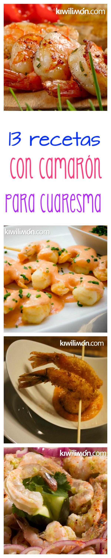 ¡13 recetas con camarón que vas a querer cocinar esta CUARESMA!