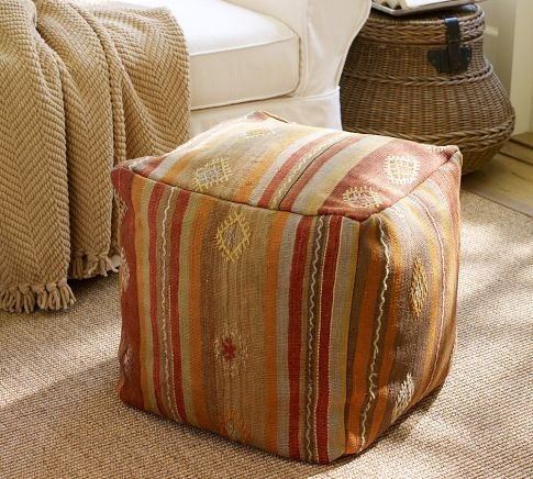 PB Found Stripe Kilim Cube Cover Floor Pillows & Stools Pinterest Stripes and Cubes