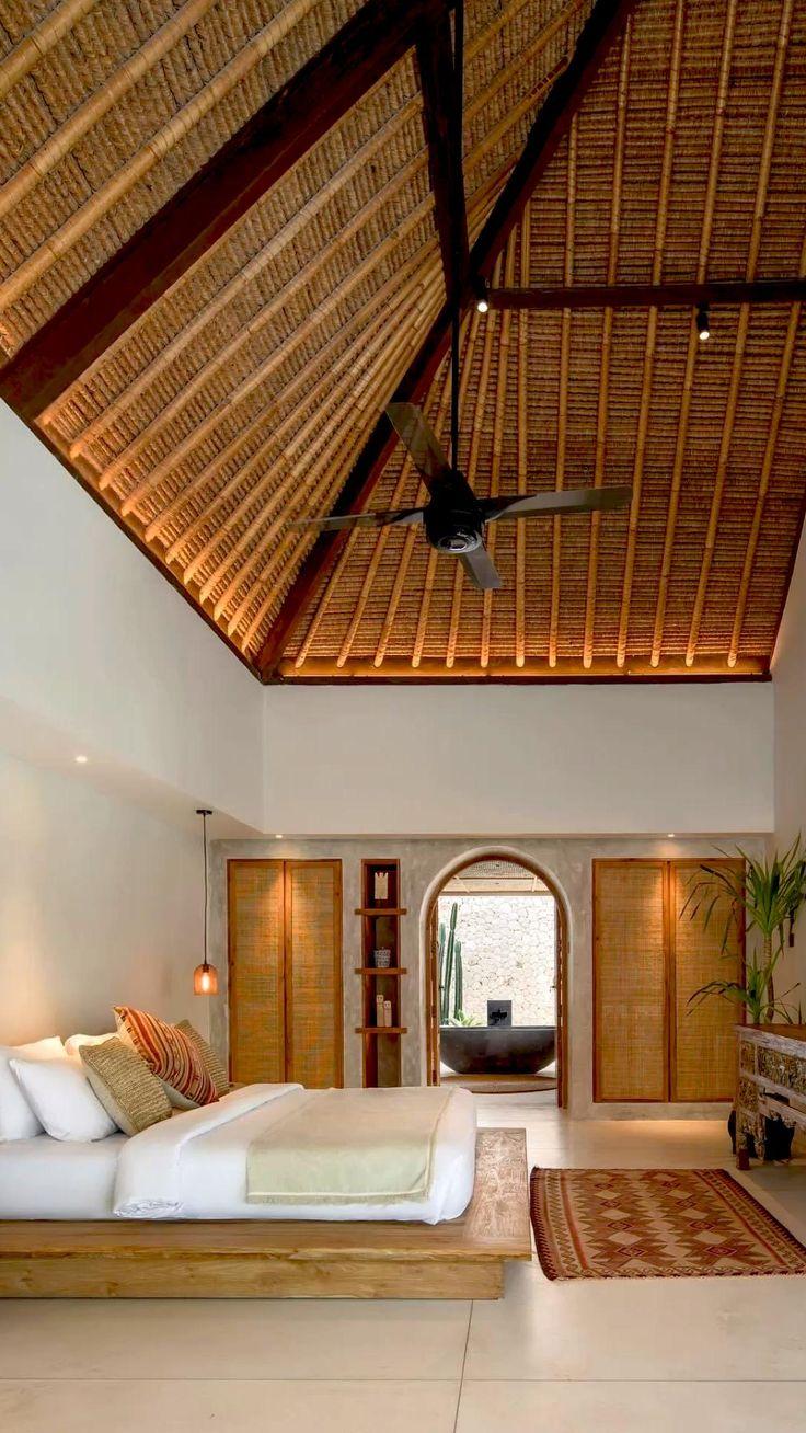 Home Interior Design, Interior Architecture, Bali Bedroom, Bedroom Decor, Bali Style Home, Casa Top, Bali Furniture, Bali House, Style Deco