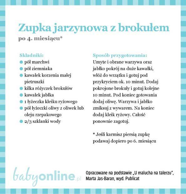 Przepisy dla niemowlaka - Zupki dla niemowlaka | Strona 4 | Baby online