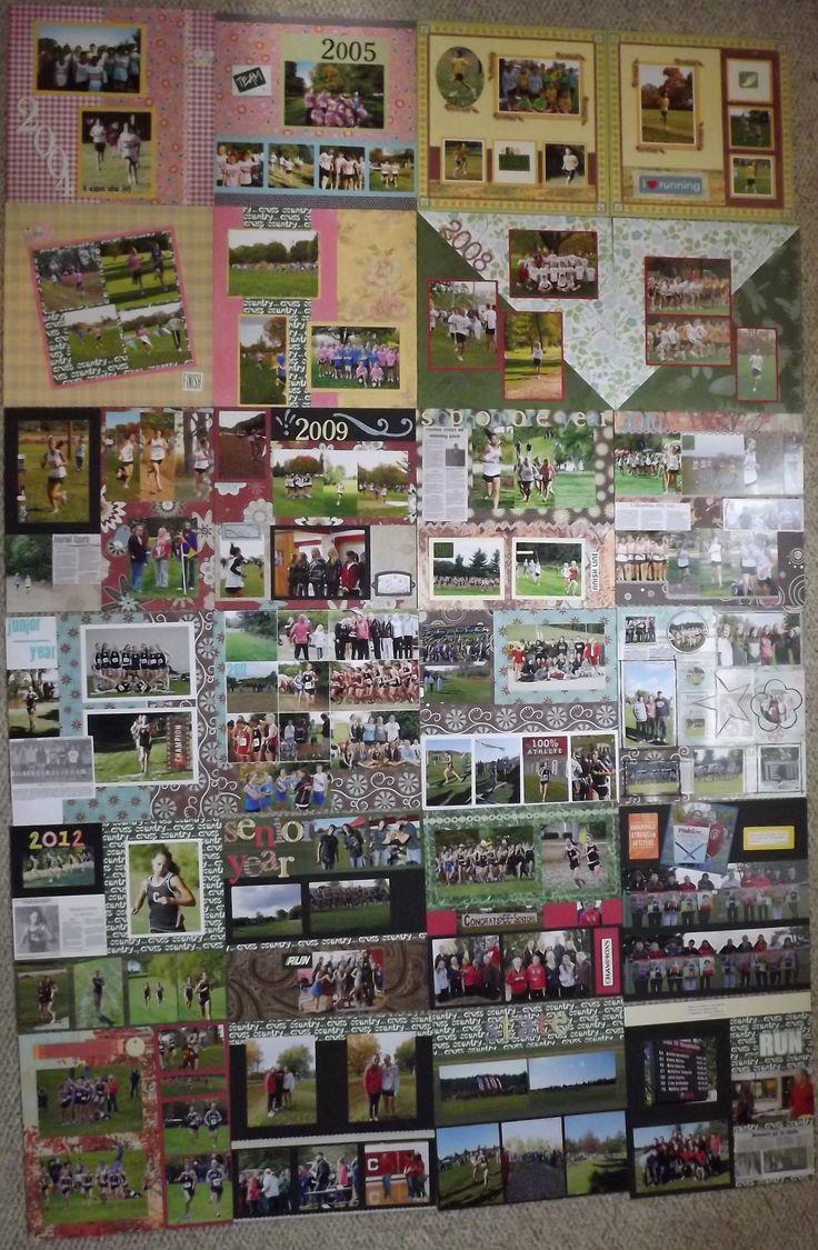 Running scrapbook ideas - 24 Cross Country Scrapbook Pages
