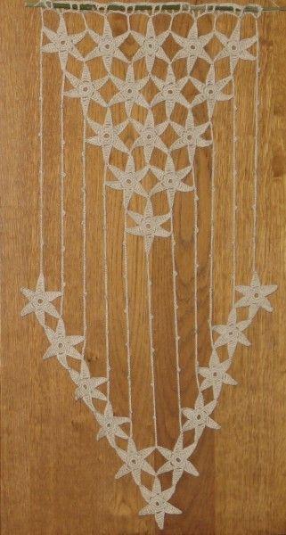 Rideau au crochet effet dentelle pour décor de fenêtre ou porte
