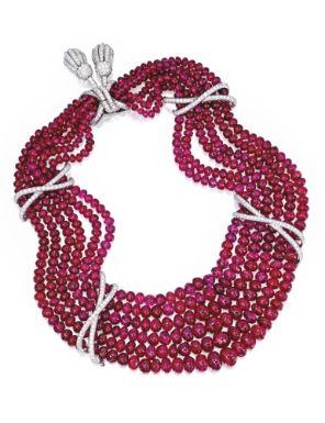 Platinum, Ruby and Diamond Necklace, Verdura – Sot…