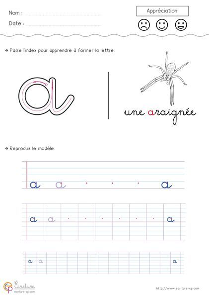 apprendre crire l 39 alphabet en minuscule imprimer. Black Bedroom Furniture Sets. Home Design Ideas