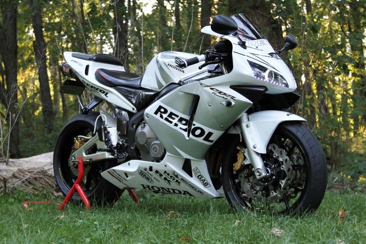 I'm always a sucker for the Repsol bikes - Honda CBR 600RR Sportbike