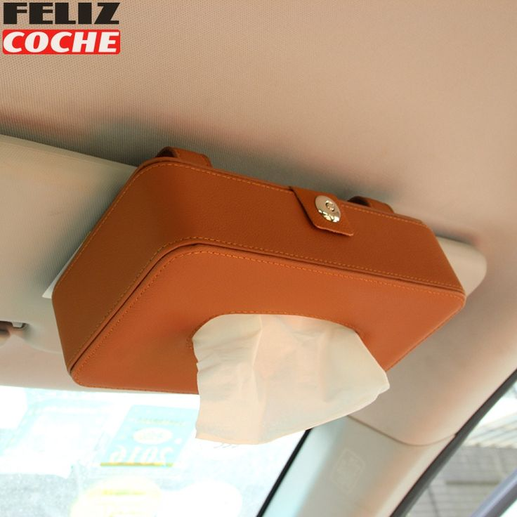 ==> [Free Shipping] Buy Best Car Sun Visor Leather Tissue Box 3 Colors Clip High Quality Automotive Paper Napkin Holder Removable Tissue Box Cover A6045 Online with LOWEST Price | 32759262131
