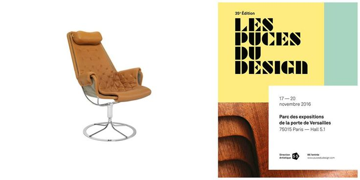 Jetson Chair Designer: Bruno Mathsson DUX Sweden 1968 #chair #design #sweden #Mathsson #paris LES PUCES DU DESIGN