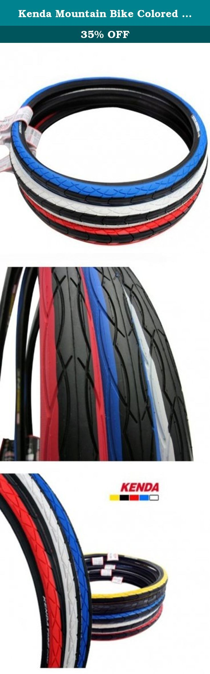 Kenda Mountain Bike Colored Tire 26 x 1.5 Inch Bald Tyre. Specifications: Product:mountain bicycle tyre Material:rubber Weight:560g Model:K1029 Size:26x1.5inch (perimeter x width ) TPI:60 PSI:40-65 Color:red-blue-white Suit for:mountain bike Features: The streamline strip pattern design- provides good drainage performance. Fine diamond particle design-increased stability and skid resistance when turning. Low rolling resistance rubber material-providing the rider comfort and saving labor....
