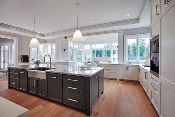 Another Consideration Dark Grey Island Cabinets With