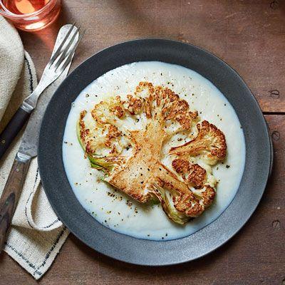 Chef Dan Barber shows you how to make this vegetarian cauliflower steak with minimal prep
