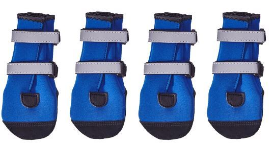 PAWSH PADS DOG BOOTS that are so easy to get on!  Set of 4 in Blue