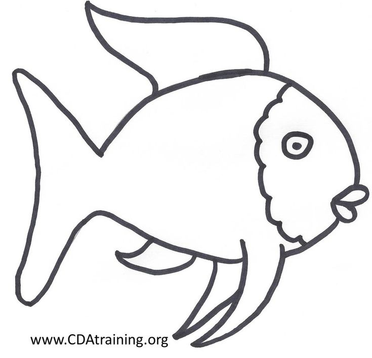 rainbow fish outline full page rainbow fish template - Rainbow Fish Coloring Pages
