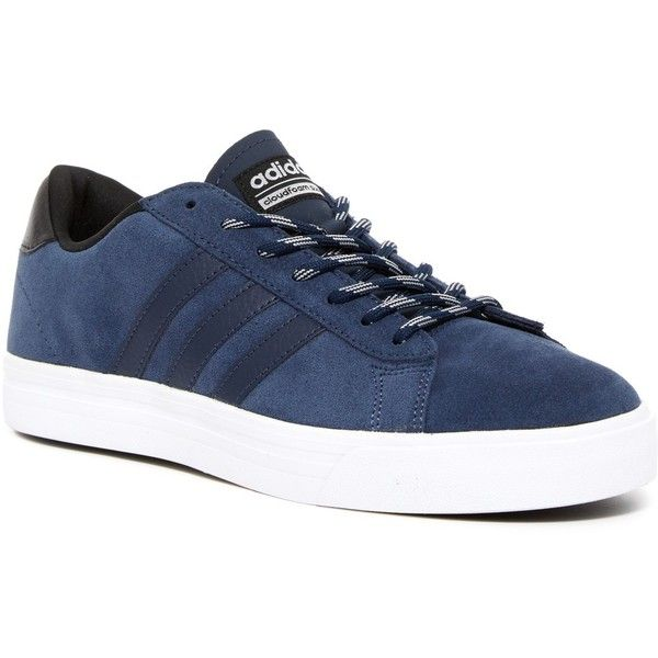 adidas Cloudfoam Super Daily Sneaker (3.000 RUB) ❤ liked on Polyvore featuring men's fashion, men's shoes, men's sneakers, adidas mens shoes, mens round toe dress shoes, mens lace up shoes and adidas mens sneakers