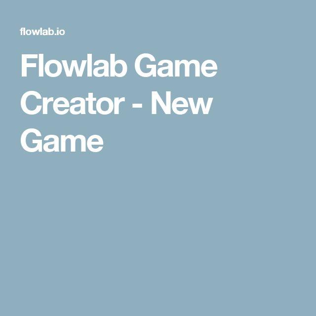 Flowlab Game Creator - New Game