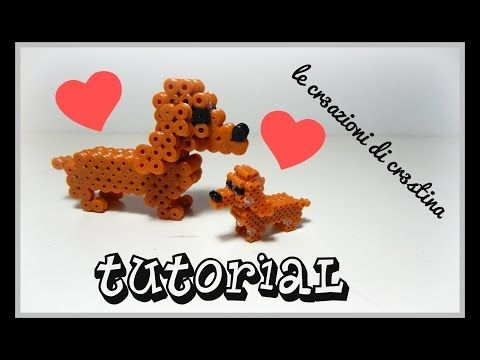 Tutorial Cane Bassotto 3D con Hama Beads - DIY Dog Perler Beads - YouTube