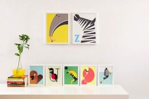 Animal A to Z Poster Illustrations by Build