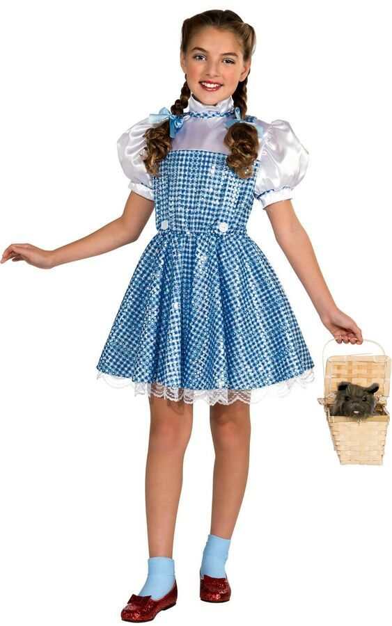Official Wizard of Oz Deluxe DOROTHY Ladies Child Fancy Dress Costumes Book Week