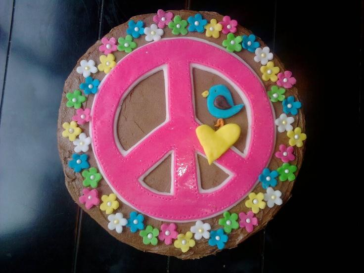 Little Delights!: Hippie Chick Birthday Cake