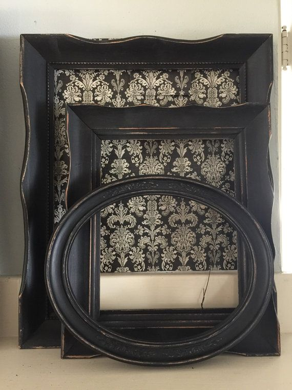 Check out this item in my Etsy shop https://www.etsy.com/listing/253493530/black-shabby-distressed-picture-frames