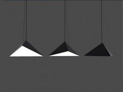 folded metal pendant light by Swedish architects Tham & Videgård Hansson