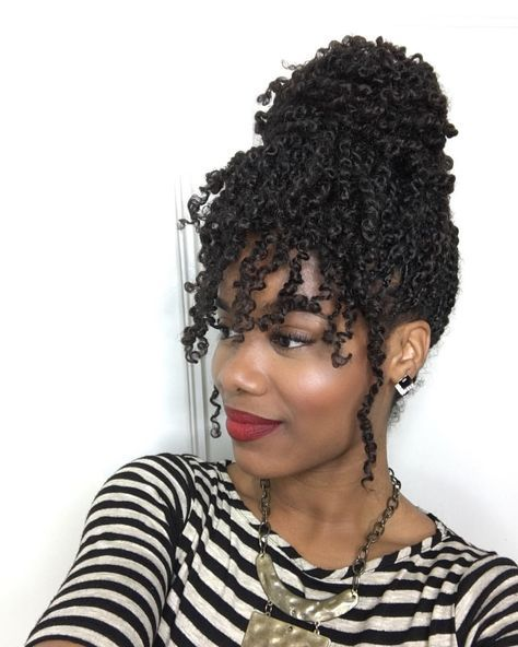 """Photo by @ jeanneep   """"This is Mambo hair. It's synthetic hair that mimics natural hair.""""  @ jeanneep Wrote: """"Kinky twist done by me! I love this hair! It's super light, spongy, and versatile, and mimics natural hair. Can be washed and moisturized too! Hair is provided by me, so book under Twist Kinks on my Styleseat:  Styleseat.com/jeannee.primm  """""""