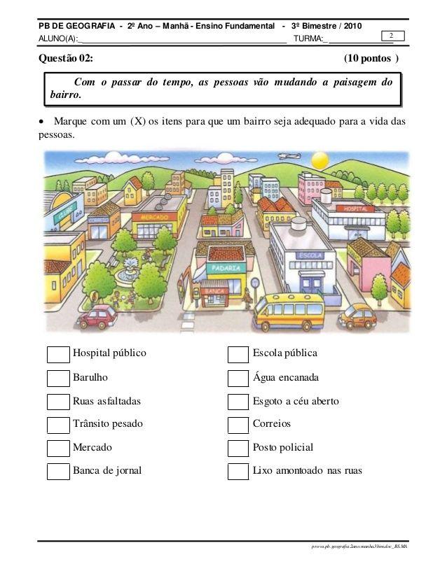 Prova Pb Geografia 2ano Manha 3bim Atividades De Geografia