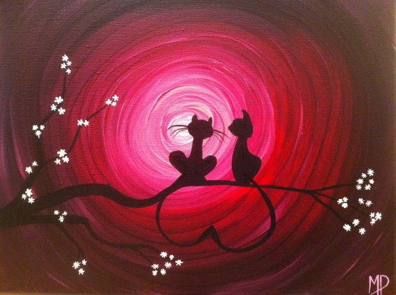 Original Whimsical Acrylic Painting Our Place   by MichaelHProsper, $40.00