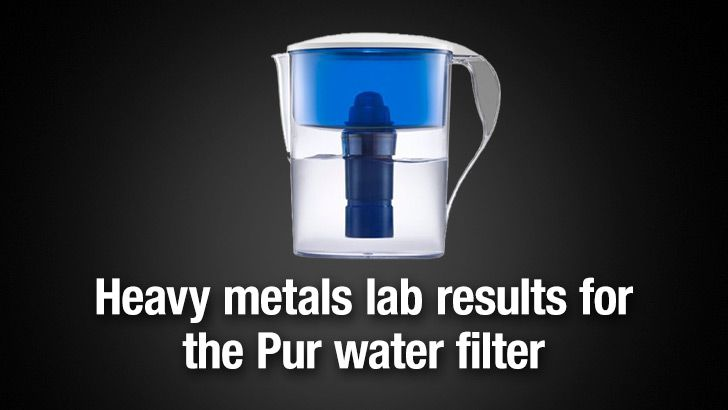 Pur water filter heavy metals reduction laboratory results - NaturalNews.com