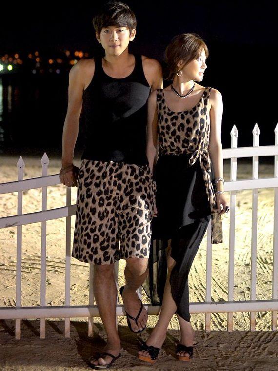 Simple Fashion Leopard Pattern Couple Clothes