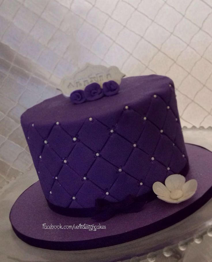 Purple birthday cake. Facebook.com/VentidesignCakes ...