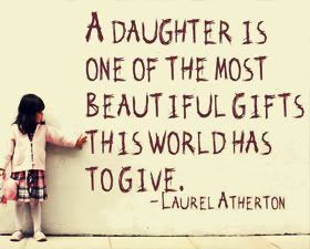 Daughter is the most precious gift for anyone @Amber Whitney