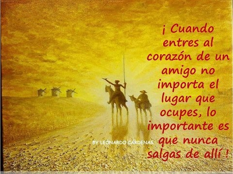 Don Quijote quote on Best Friends