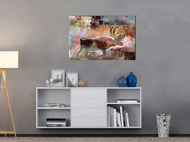 Impresión en metacrílato Colourful Caribou [Glass]
