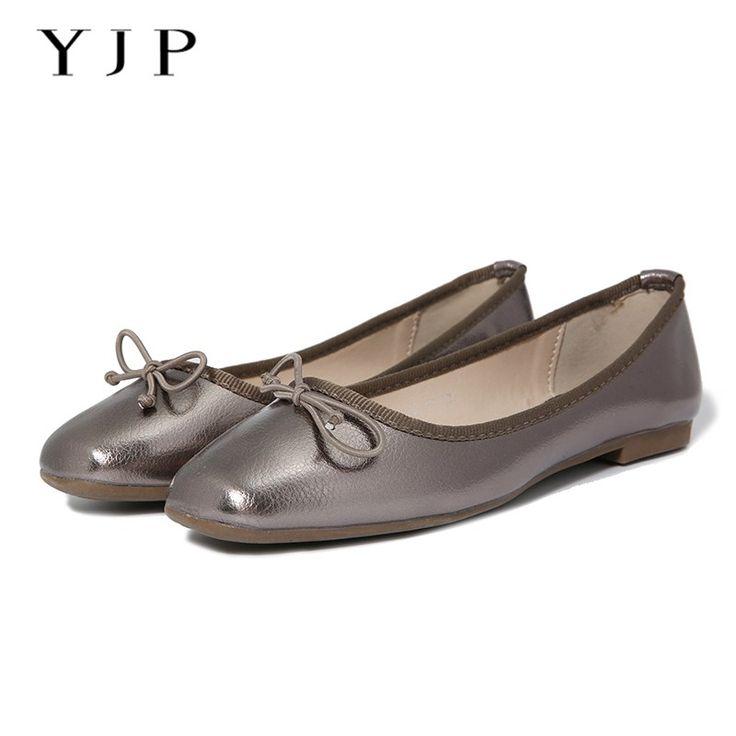 >> Click to Buy << YJP Women Ballet Flats, Black/Gold/Gun Silver Bowknot Ballerina Flat Shoes, Ladies Square Toe Slip On, Sweet Women Shoes #Affiliate