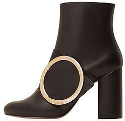 Womens black buckle ankle boots from Mango - £89.99 at ClothingByColour.com