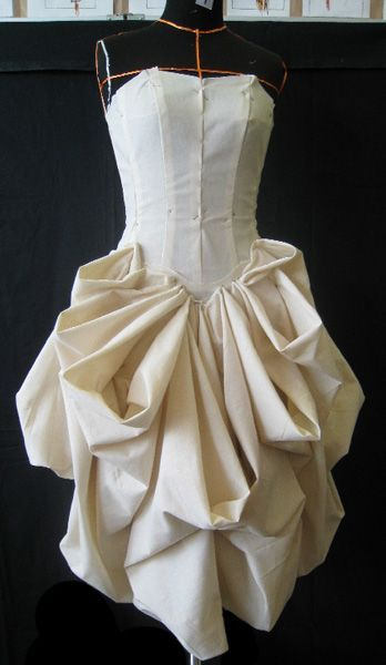 nice Draping on the stand to develop structure - fashion design couture techniques; m...