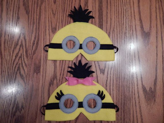 Despicable Me Double Eye Minion Felt Mask Costume Accessory - Any Size Available on Etsy, $11.55