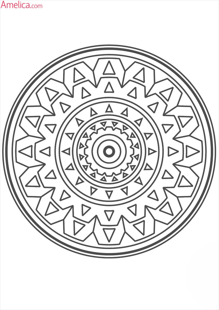 Pin by Drevnee zlo on amelica.com Mandala | Adult coloring ...