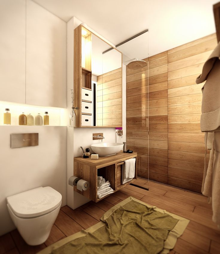 home designing via wood floor bathroom via homedesigning
