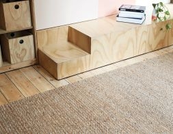 Kalahari Weave Natural and Pumice Rug by Armadillo & Co