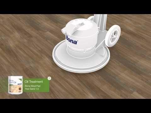 Bona Olie - Bona Rich Tone Grey met Bona Craft Oil Umbra - uw houten vloer in de olie zetten in een mooie, warme bruine kleur