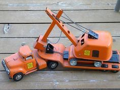 Metal Tonka Trucks For Sale | ... ,tonka Tandem Truck Low Boy & Hi-way Dept. Shovel Original For Sale