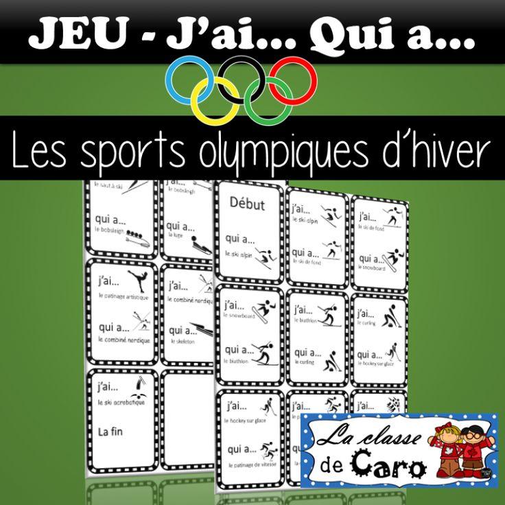 JEU - J'ai... Qui a... Sports olympiques d'hiver