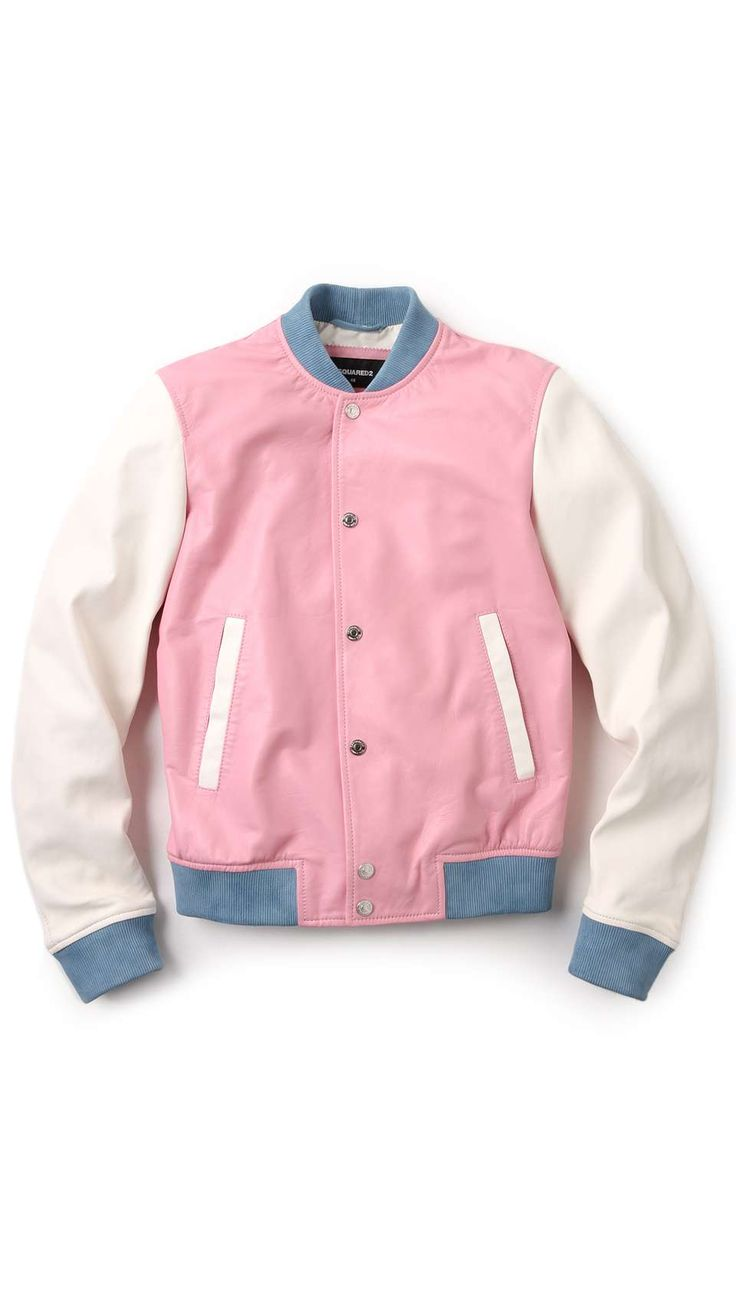 DSquared2 Pastel Leather Bomber
