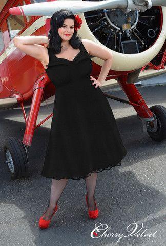 Elly Dress - Black Jacquard   Cherry Velvet   Vintage Inspired Dresses made in Canada