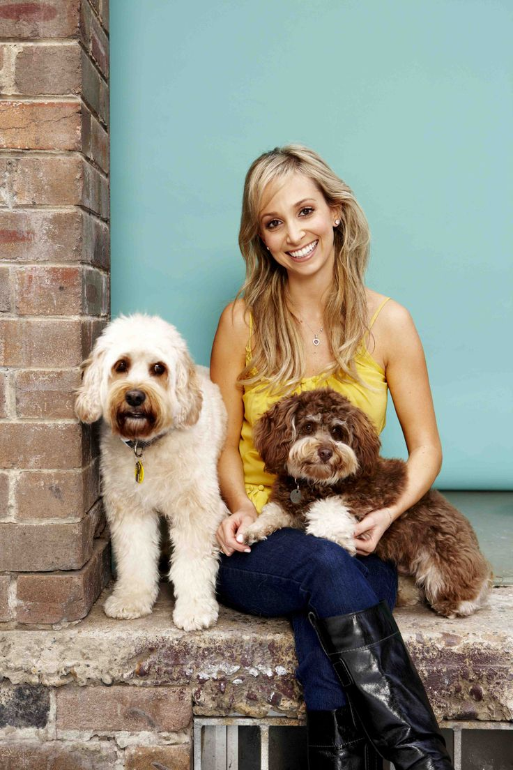 Bondi Vet TV star Dr Lisa Chimes and her doggies, Nelson and Lucas. Find out who really is the boss.
