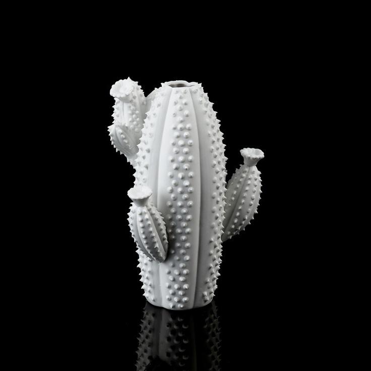 Vase Cactus Tropic en porcelaine