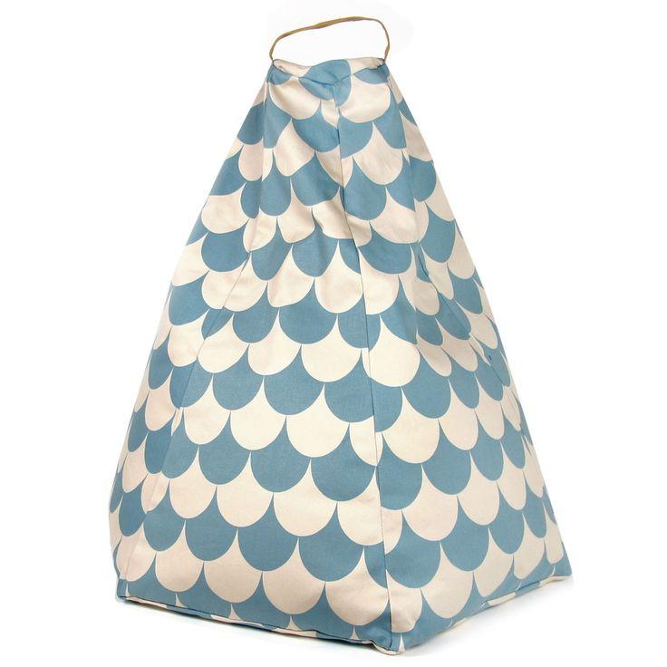 Poef marrakech - blue scales